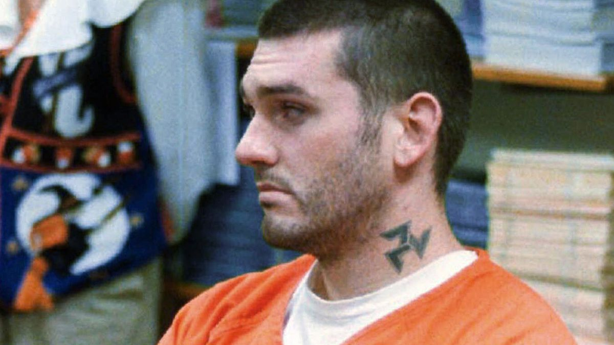 In this Oct. 31, 1997 file photo, Daniel Lewis Lee waits for his arraignment hearing for murder in the Pope County Detention Center in Russellville, Ark.