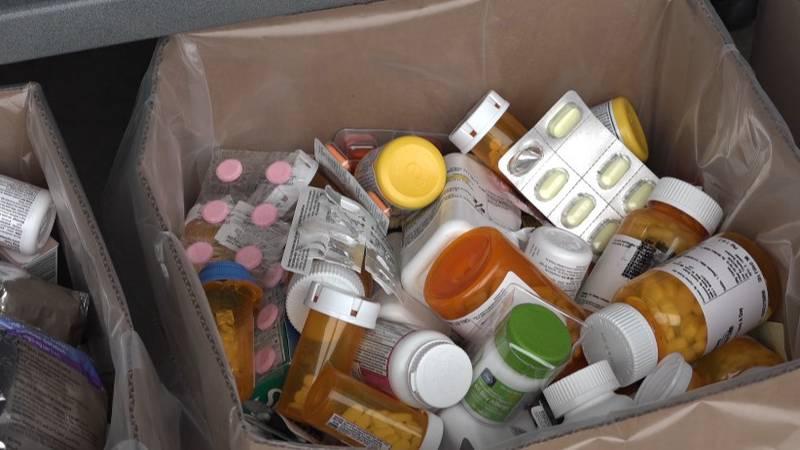 Unused medicine collected on drug takeback day