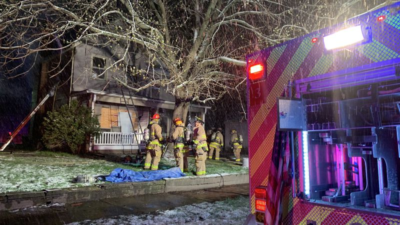 Crews battle house fire early Tuesday in North Topeka