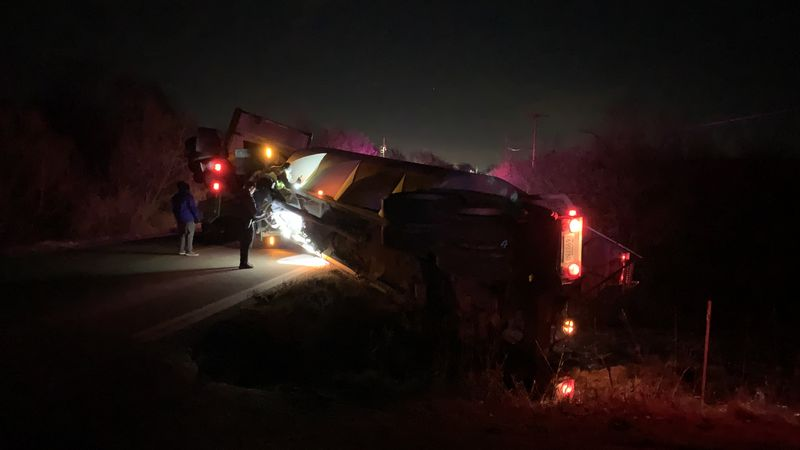A semi-trailer crash early Friday on S.W. K-4 highway at Hodges Road shut down both lanes of...