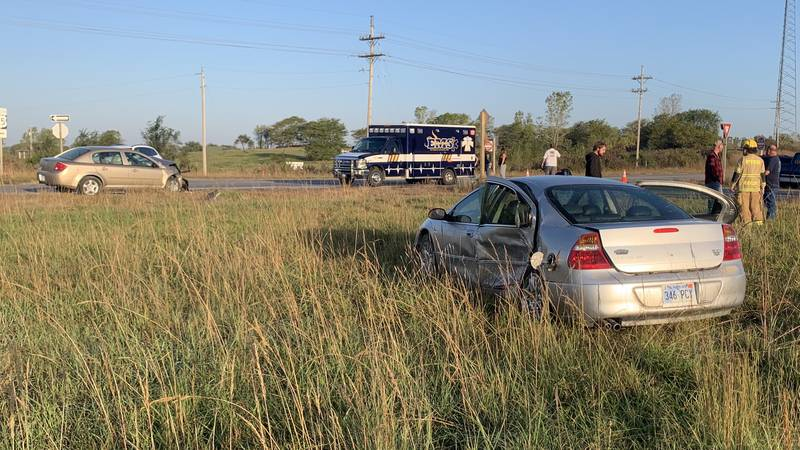 Two people were transported to a Topeka hospital following a crash Tuesday morning on US-75...