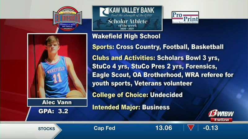 Scholar-Athlete of the Week: Wakefield's Alec Vann