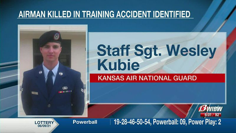 Loved ones of Staff Sgt. Wesley Kubie remembered the airman killed in a military training...