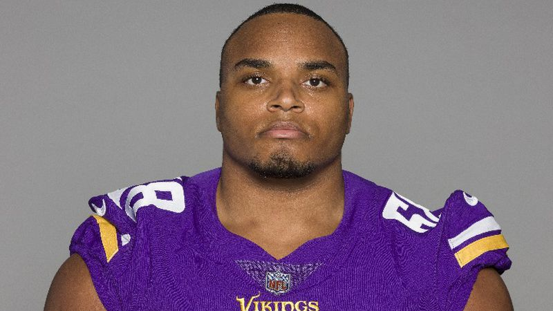This is a 2020 photo of Kyle Hinton of the Minnesota Vikings NFL football team. This image...