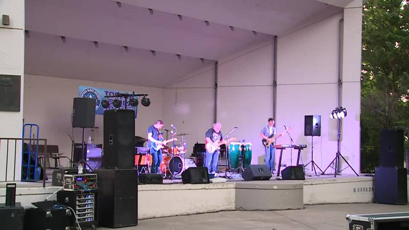 The Topeka Blues Society host Mark and the Sharks at Gage Park Amphitheater.