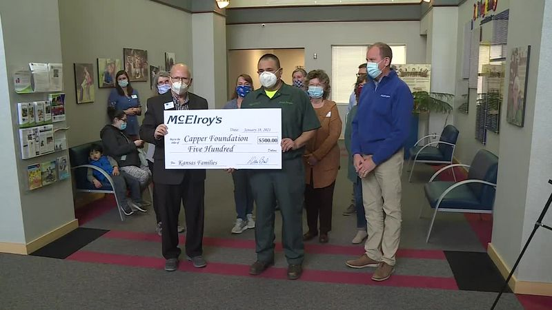 McElroy's made a donation in honor of an employee.