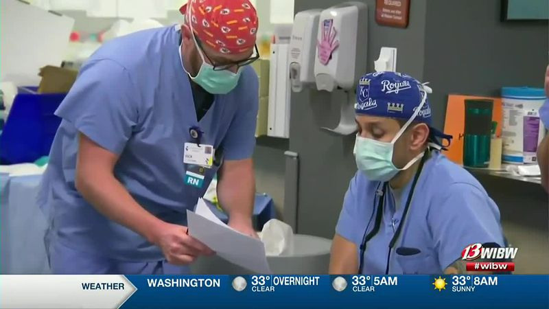CBS News got a look inside Stormont Vail's COVID-19 ward.