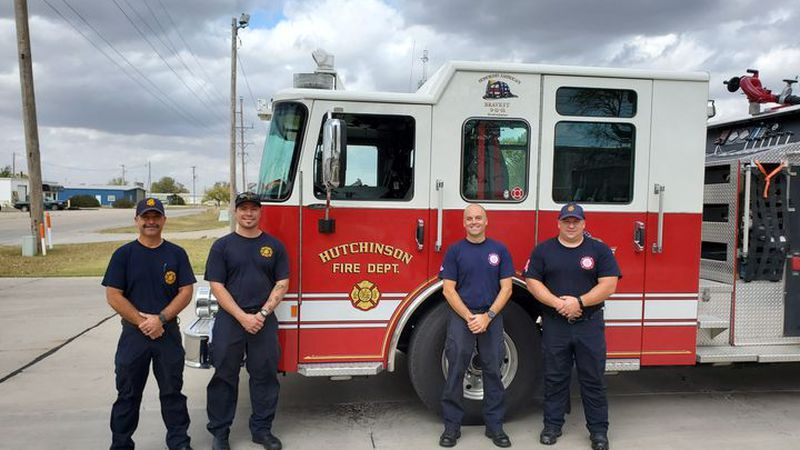 The Hutchinson Fire Department deployed a team of four wildland certified firefighters and one...