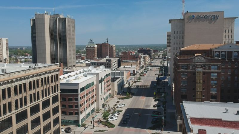 Downtown Topeka with 13 News' SkyEye drone.
