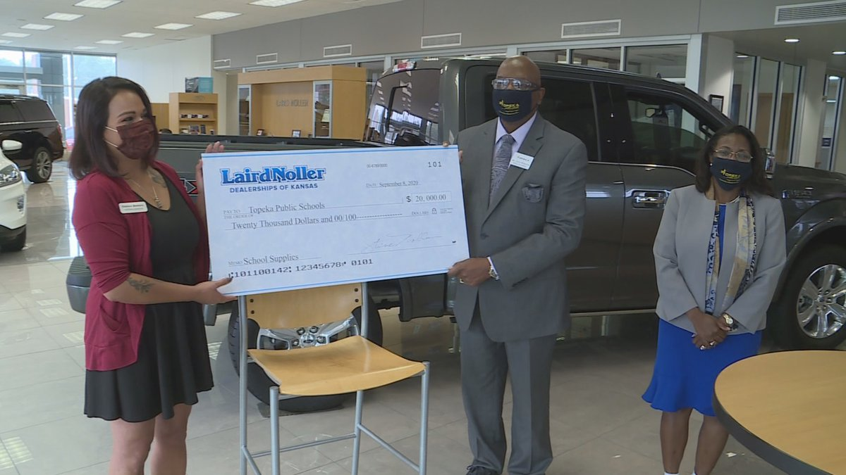 Laird Noller Ford has donated $20,000 to help purchase school supplies for Topeka Public...