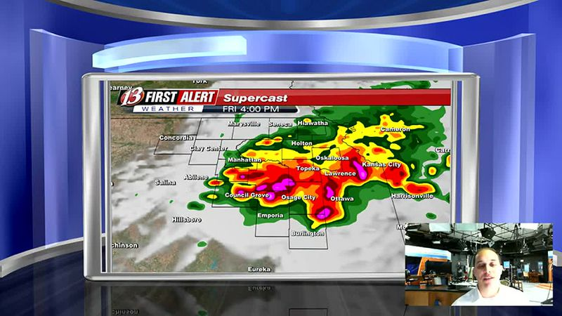Heavy rain and some severe weather is possible