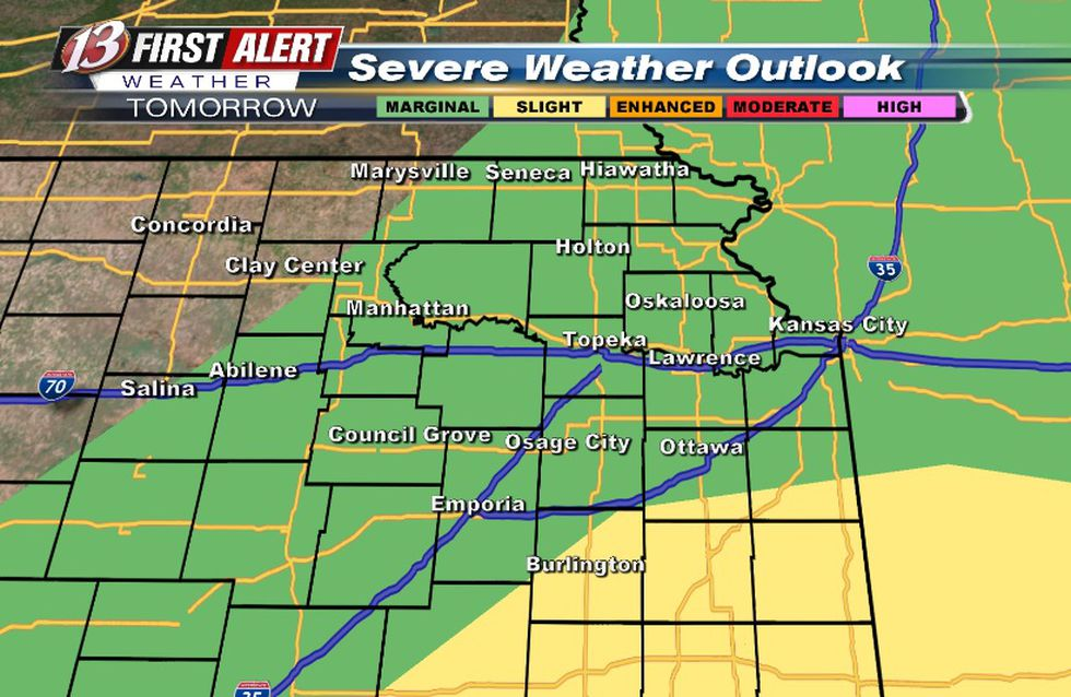 Hail/wind threat for storms Saturday morning