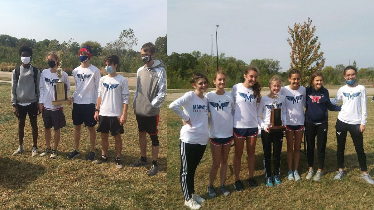 Both the Manhattan boys and girls cross country squads came home with Centennial League titles....