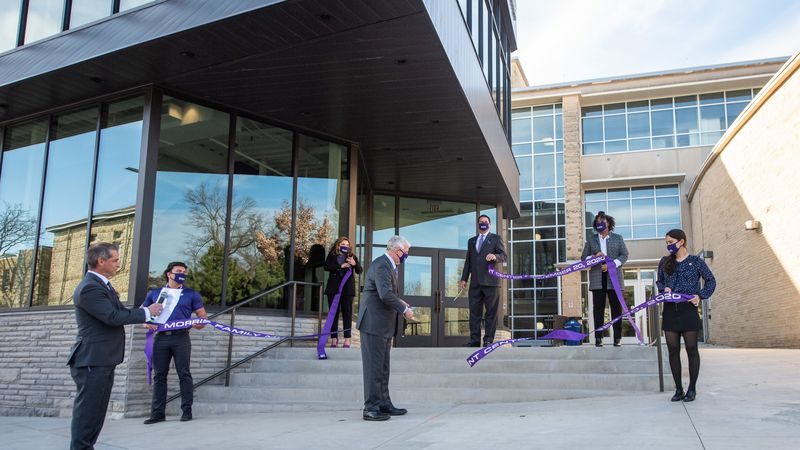 Kansas State University celebrated the completion of the Morris Family Multicultural Student...