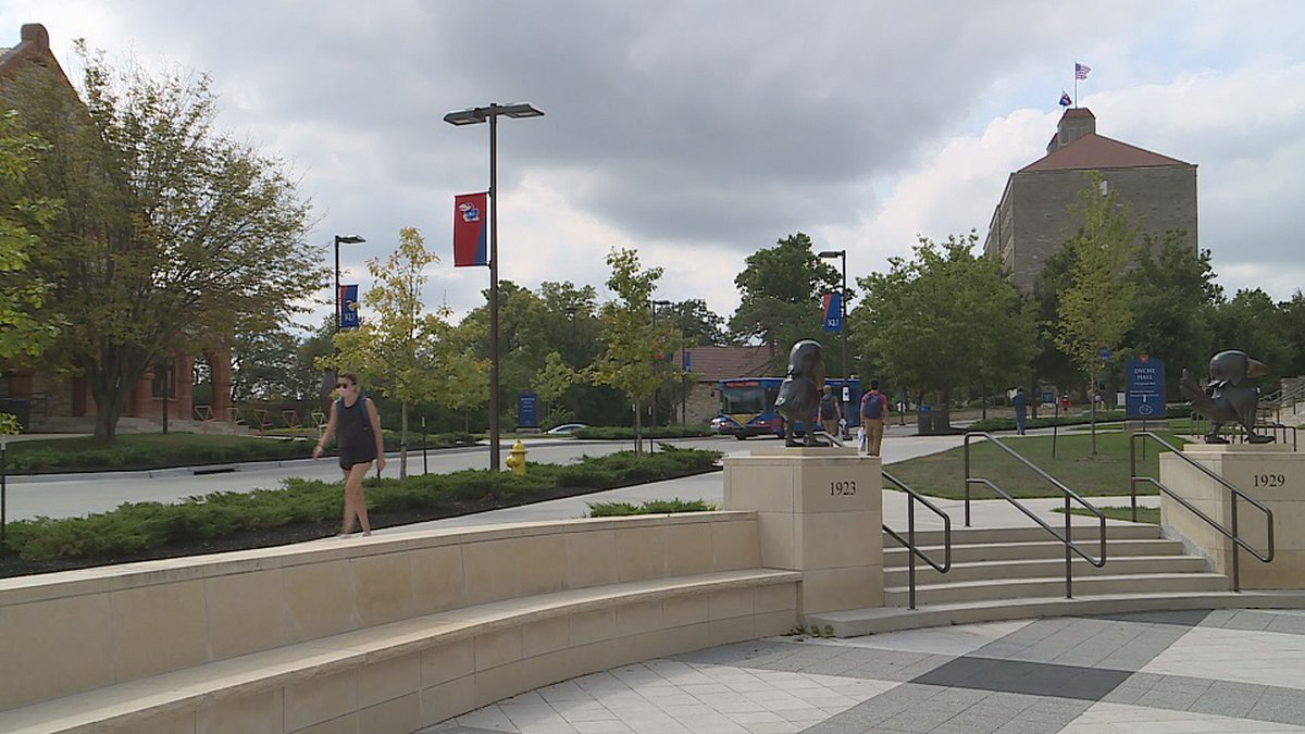 Hundreds of students at the University of Kansas pledged not to attend class on Monday as part...