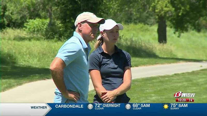 FILE: Former Topeka High golfer Rachel Stous competed in the Topeka Golf Association Match Play...
