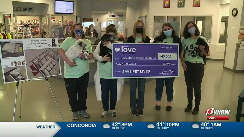 Helping Hands Humane Society received a $45,000 grant from the Petco Love Foundation.