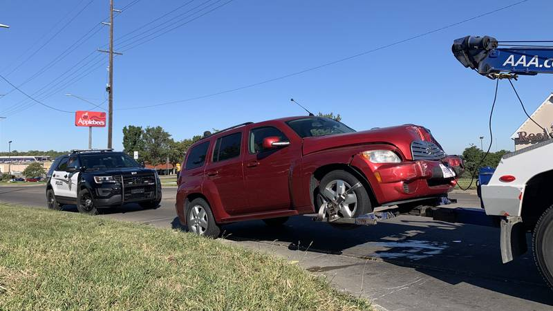 Two vehicles were damaged but no serious injuries were reported in a crash Wednesday morning...