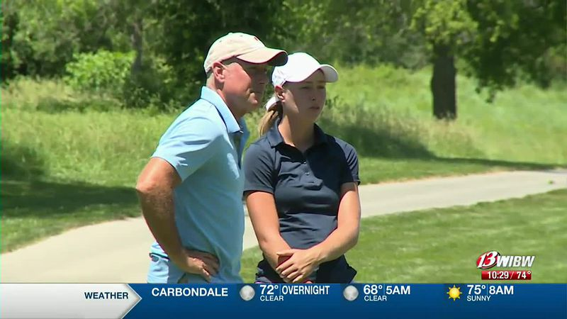 Former Topeka High golfer Rachel Stous competed in the Topeka Golf Association Match Play...
