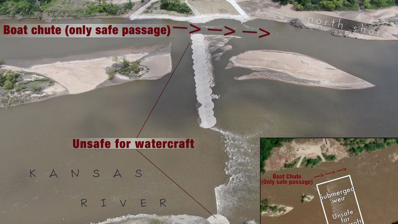The City is urging residents to follow the Kansas River Weir map to safely enjoy the river in...