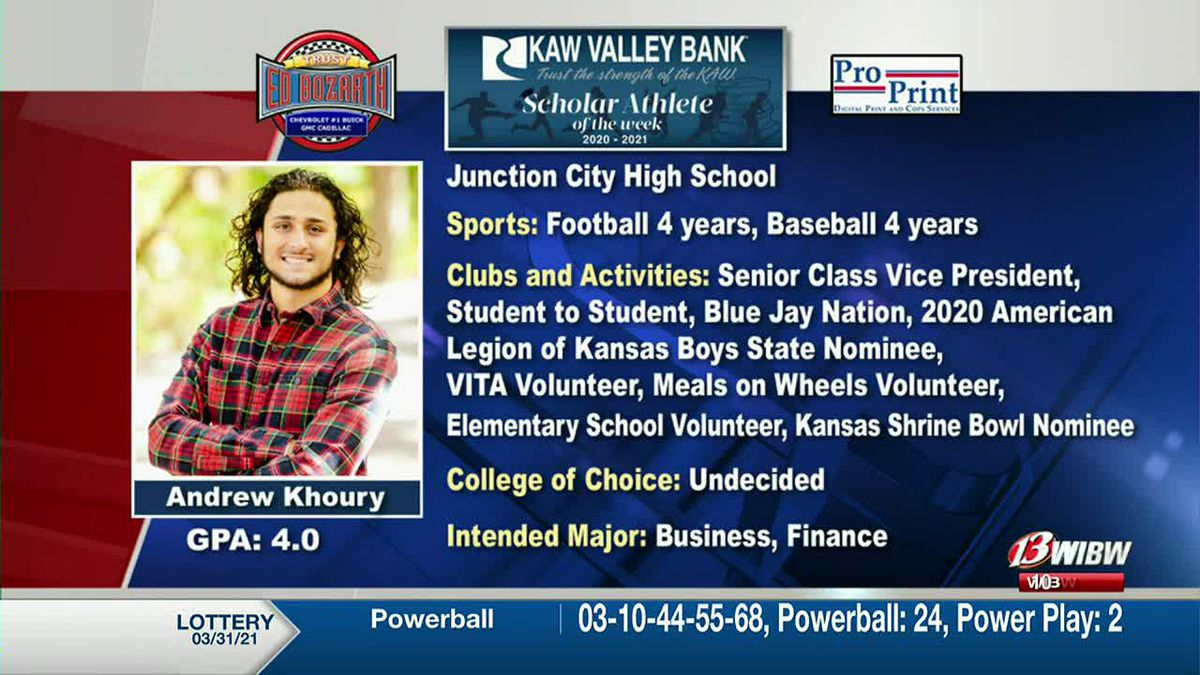 Scholar-Athlete of the Week: Junction City's Andrew Khoury