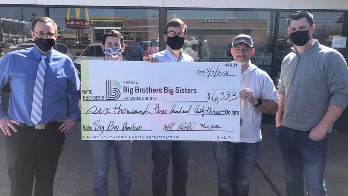 Donuts were turned into dollars Wednesday afternoon at a popular Topeka bakeshop.