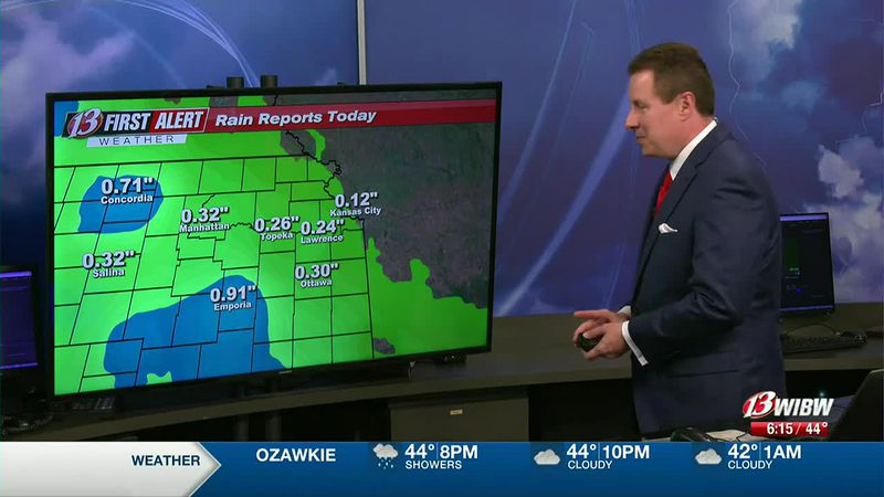 Isolated rain possible Saturday afternoon