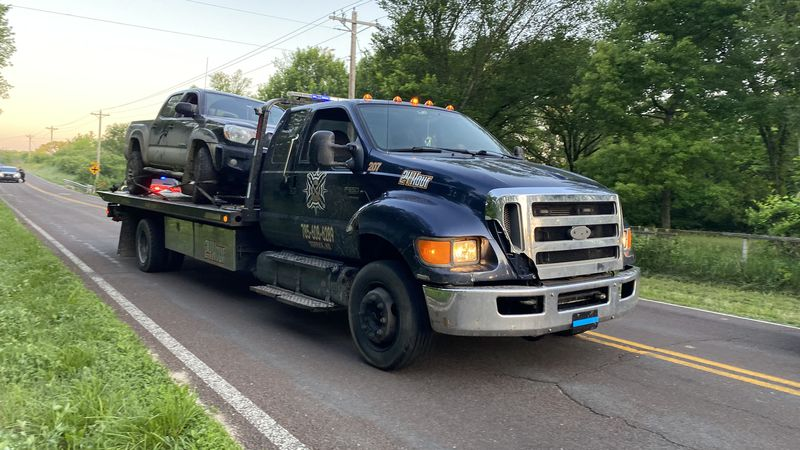 No injuries were reported after a pickup truck went into a creek early Friday near S.W. 57th...
