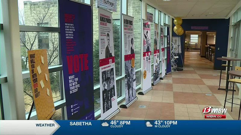 Washburn University is hosting an exhibit marking the 100th anniversary of the 19th amendment,...