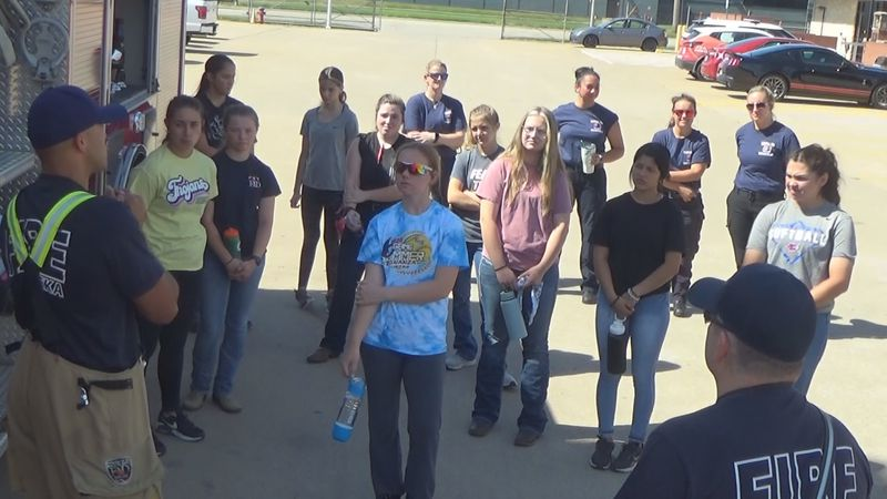 The Topeka Fire Department's Camp Courage kicked off at the TFD Training Academy on Monday.