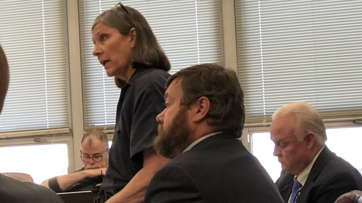 FILE - Defendant Dana Chandler told a judge she no longer wanted standby counsel Jason Belveal...