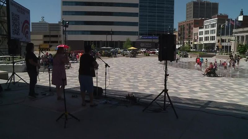 Music filled Evergy Plaza in downtown Topeka.