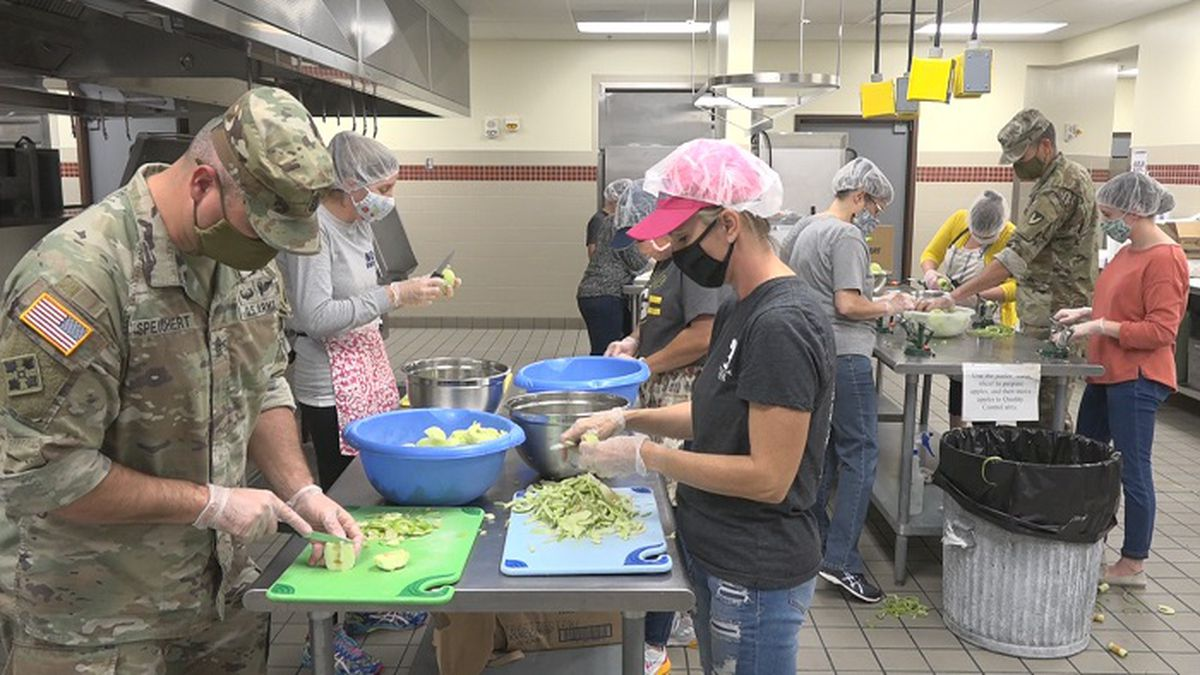 2020 Libby Custer Apple Pie making at Fort Riley for Fall Apple Day Festival