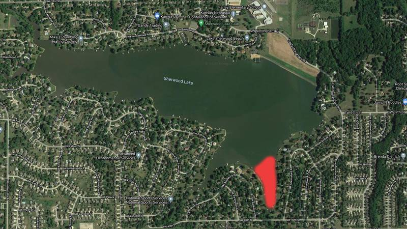 Officials say the public should stay away from Lake Sherwood's SE cove after a sewage spill.