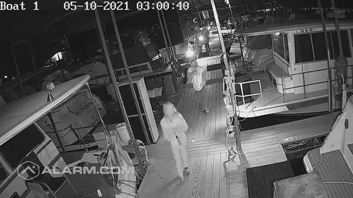 Lake Perry Marina posted surveillance video showing people who may have been involved in thefts...