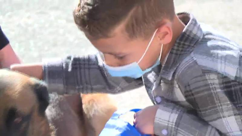 Elijah Diaz, 7, has been waiting for a heart transplant since mid-July. Topeka Police invited...