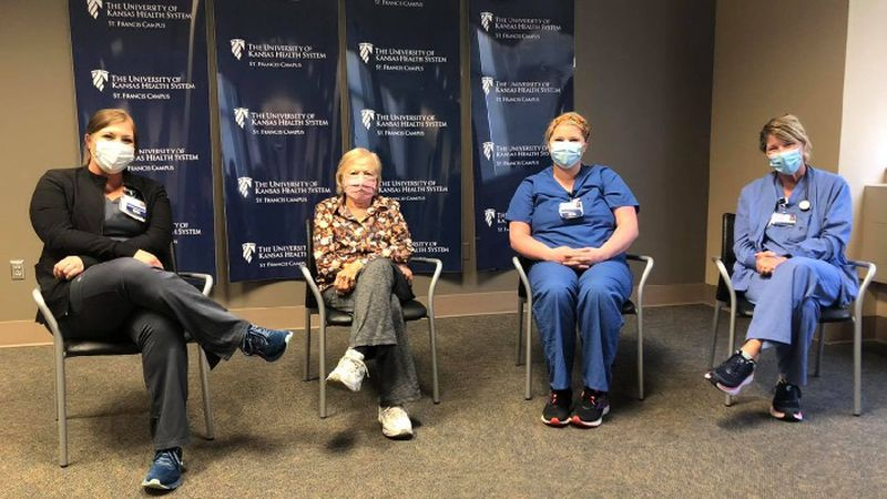 Carrie Cummings, Pat Cummings, Kate Sheern, and Brenda Cummings are all RNs at TUKHS St....