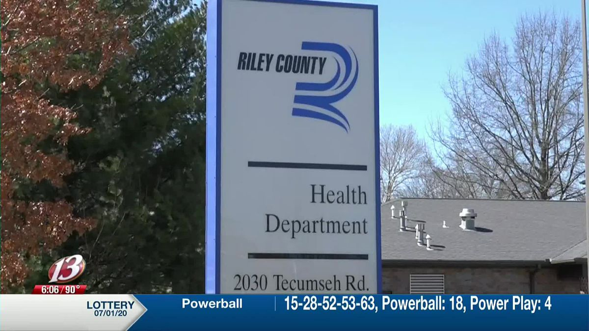 Riley County Health Department sign 2020