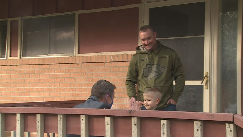 Josh Crotinger and his dad Dustin received a surprise visit from Supt. Scott McWilliams and...