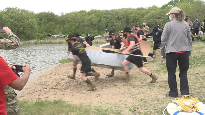 'Sobriety Floats Your Boat' cardboard boat races on Fort Riley