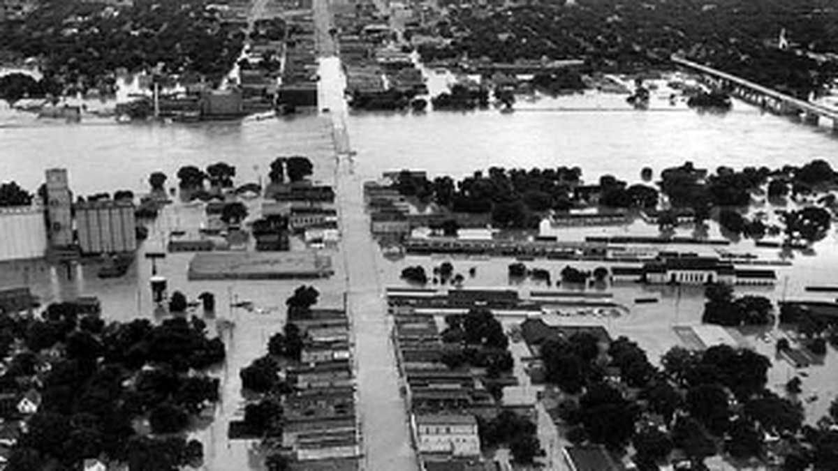 Kansas River floods what is now known as NOTO