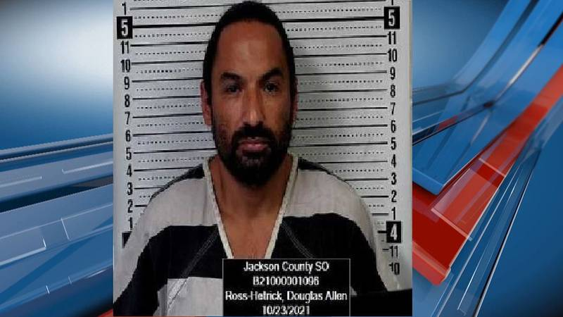 Douglas Ross Hetrick, 41, of Topeka was arrested Saturday morning following a traffic stop.