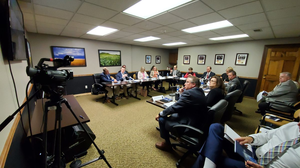 Governor Laura Kelly meets with Kansas businesses on June 1, 2021, to discuss how to reengage...