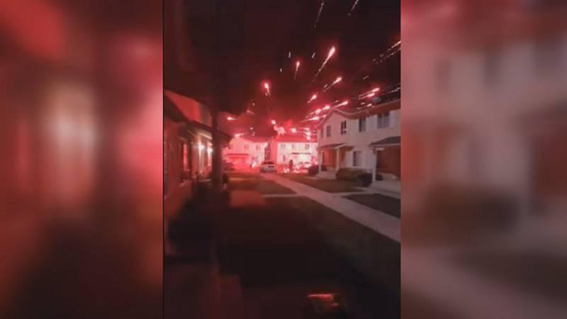 Apartment 'firework battle' leaves residents concerned for property, safety