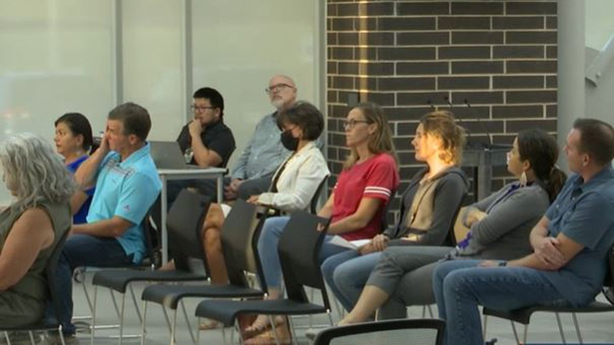 Sept. 13, 2021 school board meeting in Andover, Kansas