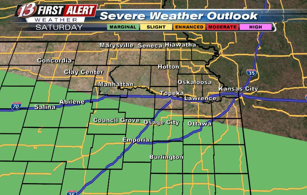 Hail/wind threat with any leftover storms Saturday morning