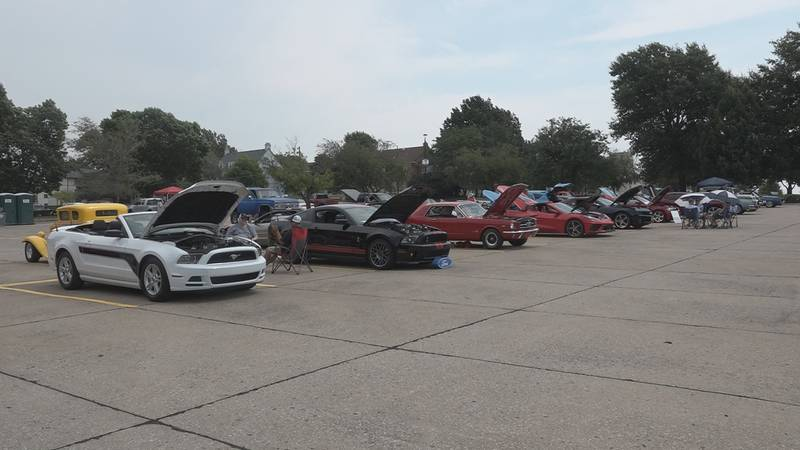 The first annual Women on Wheels Car Show at Washburn University.
