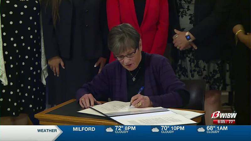 Governor Kelly signs fully fund education bill, along with school property tax extension bill