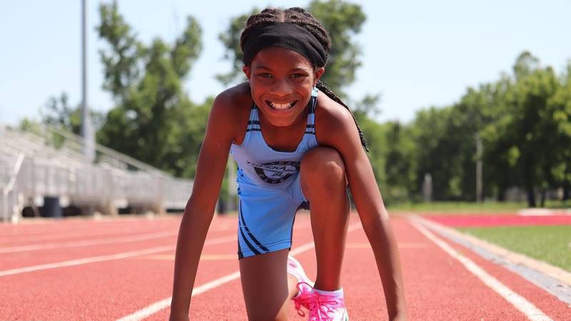 Topeka seven-year-old runs fastest 100m dash in the country this season