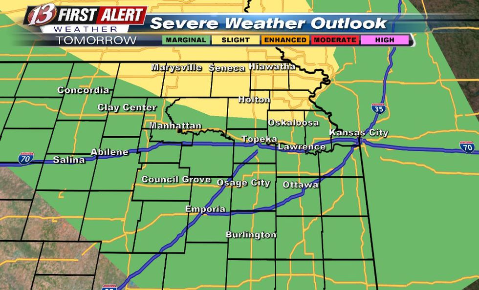 Hail/wind threat for Friday into Friday night
